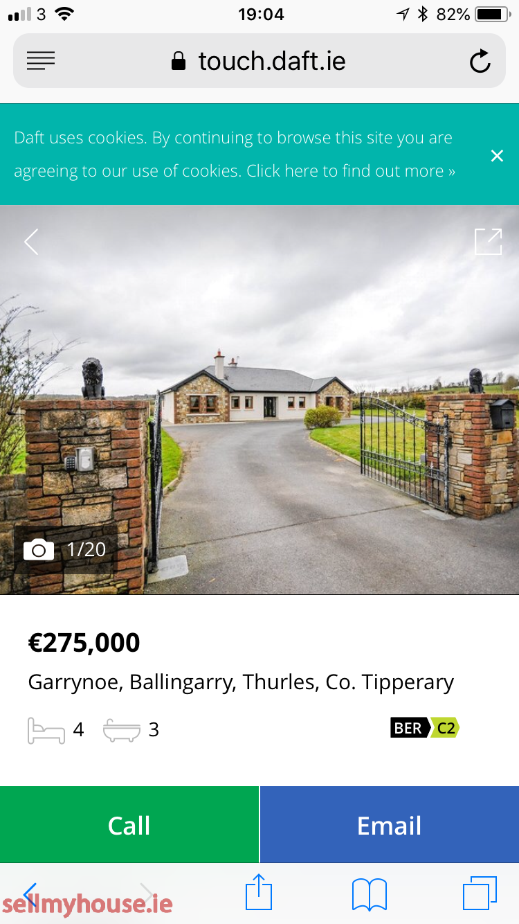 Ballingarry Bungalow for sale
